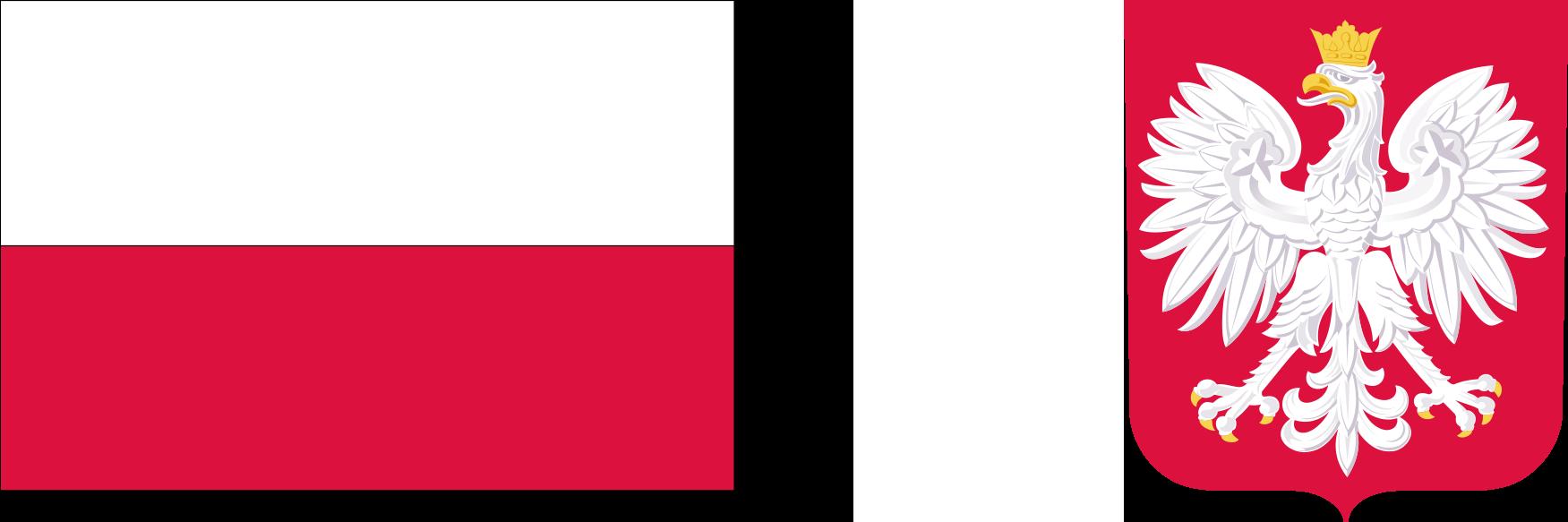 Flaga Polski oraz Godło Polski