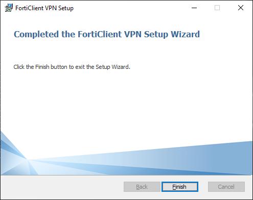 ekran z instalacji programu - przycisk finish